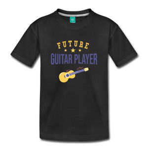 Toddler Guitar Player T-Shirt - black