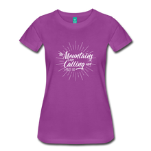 Load image into Gallery viewer, Women's Mountain Calling T-Shirt (white) - light purple