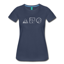 Load image into Gallery viewer, Women's Horse Symbols T-Shirt - navy