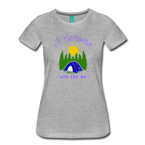 Women's Campers Life T-Shirt - heather gray