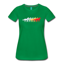 Load image into Gallery viewer, Women's Retro Rainbow Horse T-Shirt - kelly green