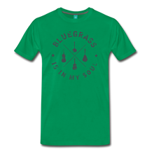 Load image into Gallery viewer, Men's Bluegrass is in my Soul T-Shirt - kelly green