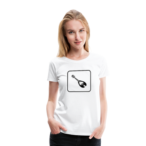 Women's Mandolin Icon T-Shirt - white