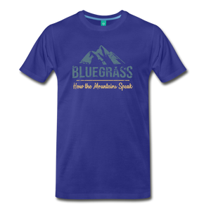 Men's Bluegrass Mountains Speak T-Shirt - royal blue