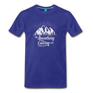 Men's Mountains T-Shirt (white) - royal blue