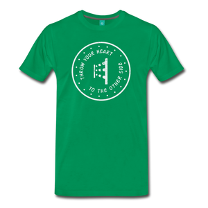 Men's Throw Your Heart T-Shirt - kelly green