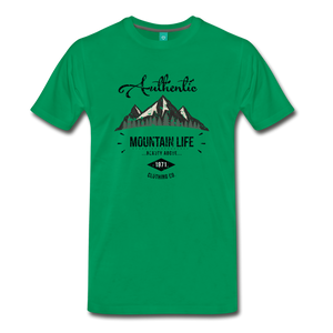 Men's Dark Authentic Mountain Life Clothing Co. T-Shirt - kelly green