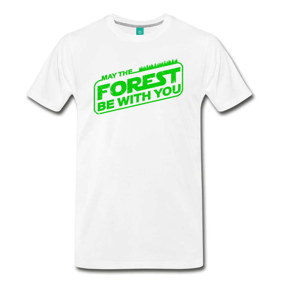 Men's May the Forest be with You T-Shirt - white