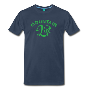 Men's Mountain Life (script) T-Shirt - navy