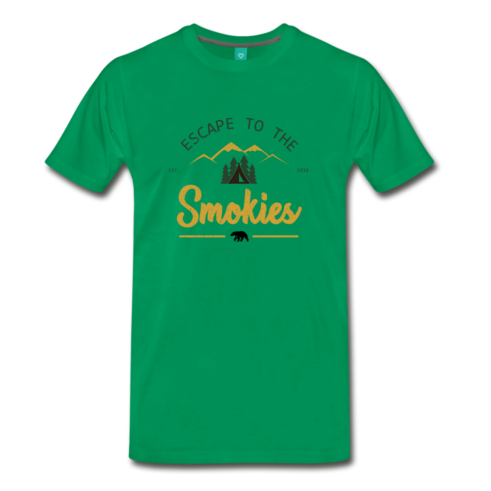 Men's Escape to the Smokies T-Shirt - kelly green