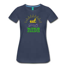 Load image into Gallery viewer, Women's Eat Sleep Ride T-Shirt - navy
