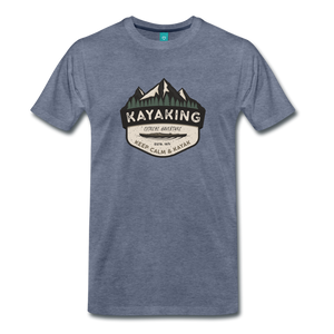 Men's Kayaking T-Shirt - heather blue