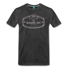 Load image into Gallery viewer, Men's The Bluegrass Cafe (music is life) T-Shirt - charcoal gray