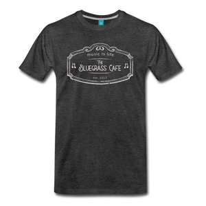 Men's The Bluegrass Cafe (music is life) T-Shirt - charcoal gray