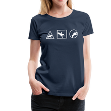 Load image into Gallery viewer, Women's Horse Symbols (solid) T-Shirt - navy