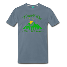 Load image into Gallery viewer, Men's Mountains Feel Like Home T-Shirt - steel blue