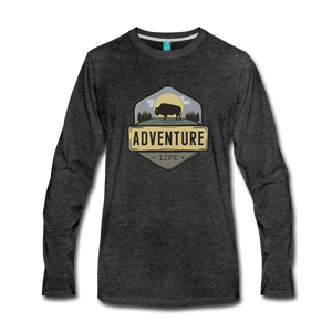 Men's Adventure Life Long Sleeve Shirt - charcoal gray