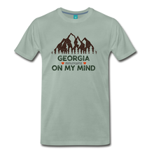 Load image into Gallery viewer, Men's Georgia on my Mind T-Shirt - steel green