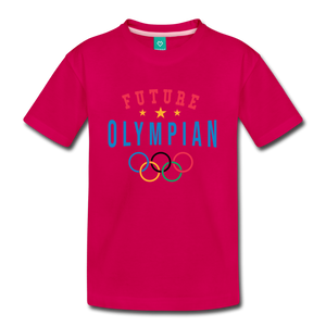 Kids' Future Olympian T-Shirt - dark pink