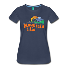 Load image into Gallery viewer, Women's 60s Mountain T-Shirt - navy