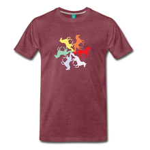 Load image into Gallery viewer, Men's Rainbow Horse Circle T-Shirt - heather burgundy
