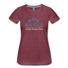 Load image into Gallery viewer, Women's Bluegrass Mountains Speak T-Shirt - heather burgundy