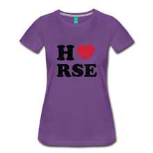 Load image into Gallery viewer, Women's Horse Large Letters T-Shirt - purple