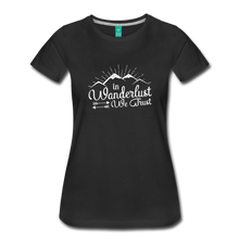 Load image into Gallery viewer, Women's Wanderlust T-Shirt (white) - black