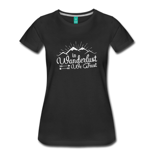Women's Wanderlust T-Shirt (white) - black