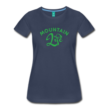 Load image into Gallery viewer, Women's Mountain Life (script) T-Shirt - navy