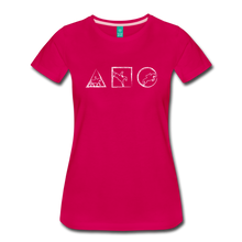 Load image into Gallery viewer, Women's Horse Symbols T-Shirt - dark pink