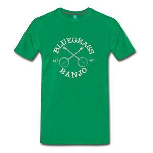 Men's Bluegrass Banjo T-Shirt - kelly green