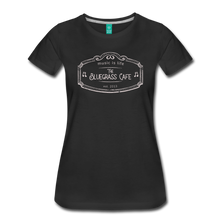 Load image into Gallery viewer, Women's The Bluegrass Cafe (music is life) T-Shirt - black