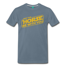 Load image into Gallery viewer, Men's May The Horse be with You T-Shirt - steel blue