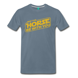 Men's May The Horse be with You T-Shirt - steel blue