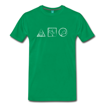 Load image into Gallery viewer, Men's Horse Symbols T-Shirt - kelly green