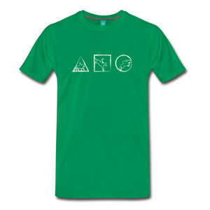 Men's Horse Symbols T-Shirt - kelly green