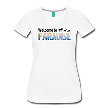 Load image into Gallery viewer, Women's Welcome to Paradise T-Shirt - white