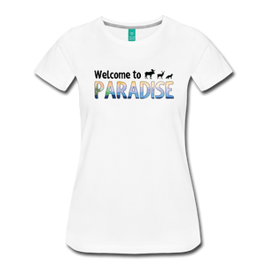 Women's Welcome to Paradise T-Shirt - white