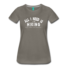 Load image into Gallery viewer, Women's All I Need is Hiking T-Shirt - asphalt