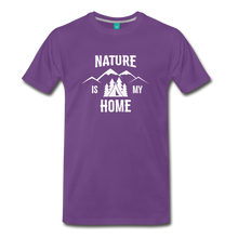 Load image into Gallery viewer, Men's Nature T-Shirt (white) - purple