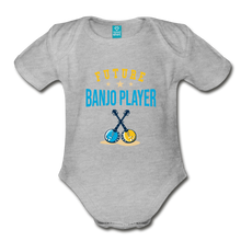 Load image into Gallery viewer, Future Banjo Player Baby Bodysuit - heather gray
