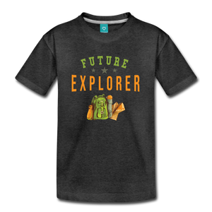 Kids' Future Explorer T-Shirt - charcoal gray