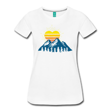 Load image into Gallery viewer, Women's Mountains Sun Heart T-Shirt - white