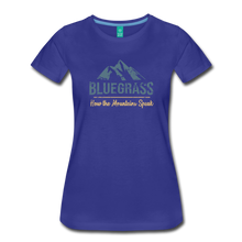 Load image into Gallery viewer, Women's Bluegrass Mountains Speak T-Shirt - royal blue