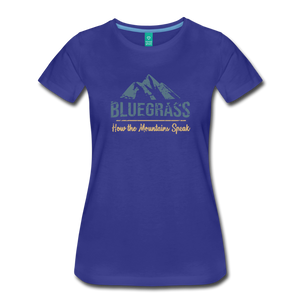 Women's Bluegrass Mountains Speak T-Shirt - royal blue