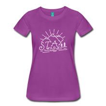 Load image into Gallery viewer, Women's Stay Wild T-Shirt (white) - light purple