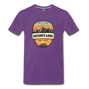 Men's Mountain's Calling T-Shirt - purple