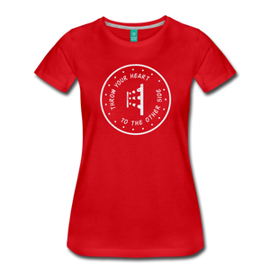 Women's Throw Your Heart T-Shirt - red
