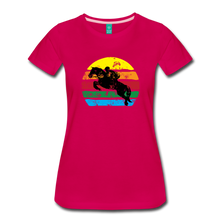 Load image into Gallery viewer, Women's Jumping Sun T-Shirt - dark pink